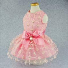 Fitwarm Fairy Pink Princess Pet Clothes for Dog Tutu Wedding Dress Shirts - Pink