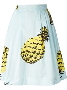 Msgm Pineapple Print Midi Skirt - Spazio Pritelli - Farfetch.com