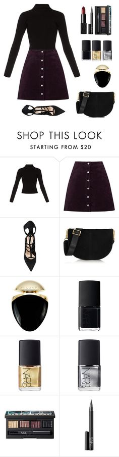 """we live, as we dream- alone"" by borderline-reckless ❤ liked on Polyvore featuring Haider Ackermann, Warehouse, Barbara Bui, Elizabeth and James, Bulgari and NARS Cosmetics"