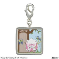 Bunny Cartoon Photo Charm