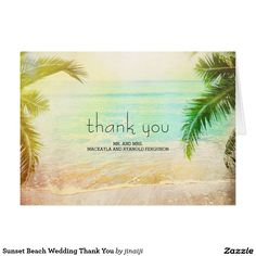 Sunset Beach Wedding Thank You