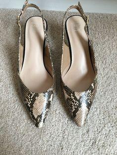087259f6 Ladies Size 4 Snakeskin Kitten Heel Slingbacks - Kitten Heels from Ebay UK  - #KittenHeels
