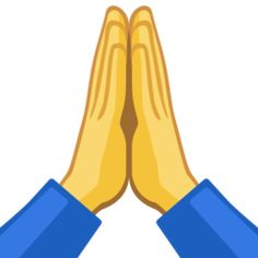 Two hands placed firmly together, meaning please or thank you in Japanese culture. A common alternative use for this emoji is for prayer, using the same gesture as praying hands. Praying Hands Emoji, Thank You In Japanese, Christmas Quotes Images, Hand Emoji, Scripture Images, Facebook 2, Folded Hands, Eye For Beauty, Girly Pictures