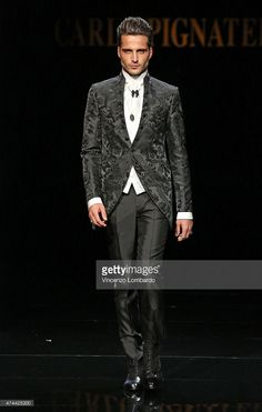 A model walks the runway at the Carlo Pignatelli Fashion Show 2016 on May 22, 2015 in Milan, Italy.