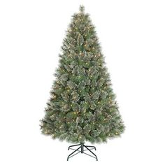 6ft Pre-Lit Artificial Christmas Tree Virginia Pine - Clear Lights