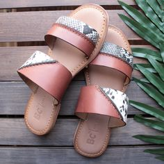 bc footwear - on the spot whiskey sandals with exotic print