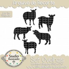 Sheep Set, Set Ovelhas, Carneiro, Lã, Animal da Fazenda, Fofo, Sheep, Wool, Farm Animal, Cute, Ovejas, Lana, Lindo, Granja Animal, Corte Regular, Regular Cut, Silhouette, Arquivo de Recorte, DXF, SVG, PNG