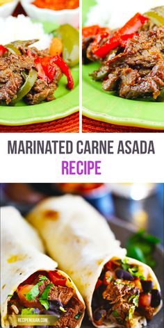 The meat used in Carne Asada recipe is simply grilled cut beef, and it is usually the beef flank or skirt that is used marinated overnight