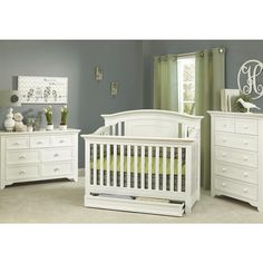 "Baby Cache Harbor Lifetime Crib - White - Baby Cache - Babies ""R"" Us (like the drawer)"