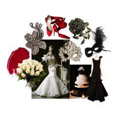 dramatic masquerade wedding