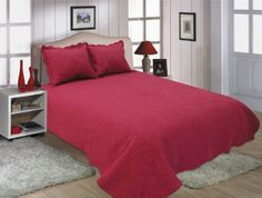 This beautiful quilt set includes 1 pc of quilt and 2 pcs of pillow shams. King size 1 pc quilt Our quilt sets can also be used as bedspreads, coverlets, comforters and room decoration art craft. Quilt Sets Queen, Queen Beds, Bed Spreads, Duvet Cover Sets, King Size, Bedding Sets, Home Goods, Decorative Pillows