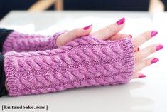 Knitting Pattern Fingerless Mittens - Bing Vaizdai