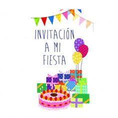 Invitacin Cumpleaos Nios Invitaciones de Cumpleaos Originales