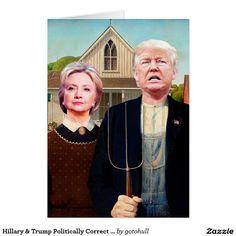 Hillary Trump Politically Correct Birthday Card