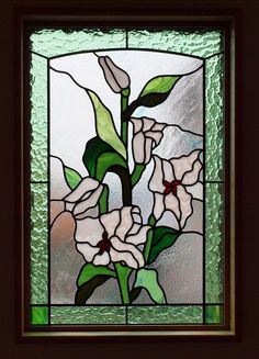 Stained glass lily UP