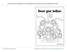 honor your parents coloring page - honor your mother coloring page mother 39 s day activities