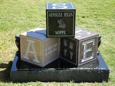 Blocks Grave Marker