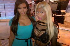 Kim K and Nicki Minaj at the Today Show Friday April 6, New York City