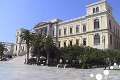 Located in the island complex of Cyclades, Syros is yet another astonishing island in the Aegean Sea. Apart from its exceptional beauty and marvellous beaches, Beaches, Greece, Culture, Sea, Island, Mansions, House Styles, Unique, Winter