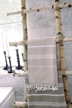 tree branch towel rack or magazine rack