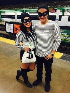 Couple costume for Halloween! So simple and affordable! Robbers Partners in crime