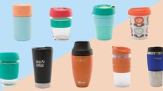 Looking for the best BYO coffee cup? CHOICE road-tests nine popular styles including KeepCup, Frank Green, Thermos, Avanti and Bodum. Take Away Coffee Cup, Disposable Coffee Cups, Coffee Cup Design, Green Cups, Reusable Coffee Cup, Recycled Bottles, Coffee Mugs, Recycling, Water Bottle
