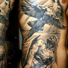 Angels On Side For Men Tattoo Idea