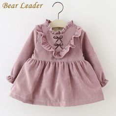 Bear Leader 2016Fashion Autumn Girls Dresses Long Sleeved Kids Dress Tutu Bow Ruffles Velvet Infants Dress Double Level Vestidos #>=#>=#>=#>=#> Click on the pin to check out discount price, color, size, shipping, etc. Save and like it!