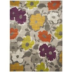 Shop for Safavieh Porcello Contemporary Floral Grey/ Yellow Rug (8'2 x 11'). Get free shipping at Overstock.com - Your Online Home Decor Outlet Store! Get 5% in rewards with Club O!