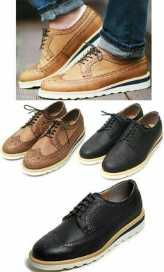 Grego new men's casual wingtip shoes lace-up fashion oxford grego 642 Casual Shoes, Men Casual, Hipster Shoes, Wingtip Shoes, Brogues, Loafers, Moccasins Mens, Mens Boots Fashion, Gentleman
