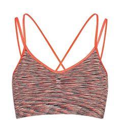 Sweaty Betty Yama Padded Yoga Bra ($32) ❤ liked on Polyvore featuring activewear, sports bras, candyspacedye, low cut sports bra, seamless sports bra, sweaty betty, yoga sports bra and yoga activewear