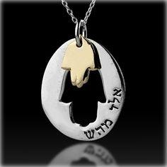 Hamsa Kabbalah Pendant for Good Fortune and Health, Unique Kabbalah jewelry from Israel