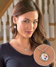 NFL Steelers Earring & Pendant Set - Price $8.95