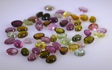 Multi Oval cabochon Tourmaline gems 3x43x5 X 0 mm 1pc US