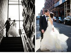 Stylish Downtown NYC Wedding - Be inspired by Kate & Dominic's chic downtown New York City #new #york #city #wedding #nyc #inspiration #downtown #chic #stylish #manhattan #christian #oth #studio #luxury #bowery #hotel #bride #groom #street
