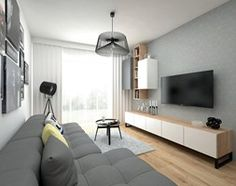 Aranżacje wnętrz - Kuchnia: Mieszkanie - 40 m2 - Duża otwarta kuchnia w kształcie litery l, styl skandynawski - BIG IDEA studio projektowe. Przeglądaj, dodawaj i zapisuj najlepsze zdjęcia, pomysły i inspiracje designerskie. W bazie mamy już prawie milion fotografii!
