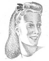 Snood knitting pattern - Madame Wiegel's Journal of Fashion September 1, 1944