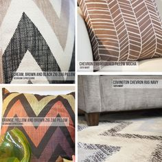 Fresh and Fun Chevron Products from Bedroom Expressions and Sofa Mart.