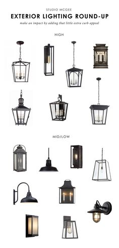 Our Top Picks: Exterior Lighting Studio McGee Outdoor Wall Sconce, Outdoor Wall Lighting, Landscape Lighting, Outdoor Walls, Home Lighting, Lighting Design, Club Lighting, Outdoor Spaces, Lighting Ideas