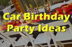 Car themed Birthday Party Ideas.
