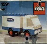 View LEGO instructions for Danone Delivery Truck set number 1591 to help you build these LEGO sets