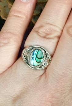 Stunning genuine abalone shell 925 sterling by MastersofTincture