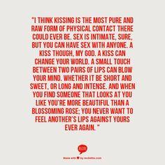 Kissing.....