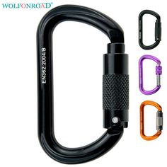 Twist-LOCK Rock Climbing Carabiner For Attaching Devices To a Harness SCREW-LOCK Carabiner Belays L-ASQJ-21