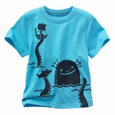 Jumping Beans Front and Back Sea Monster Tee - Baby