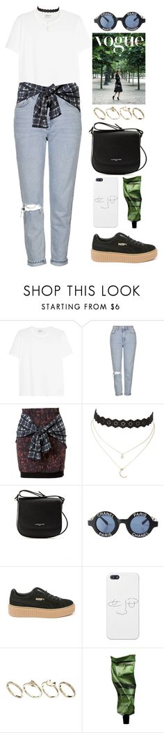 """""""It's really you, it's really you on my mind"""" by gitasamudra ❤ liked on Polyvore featuring Yves Saint Laurent, Topshop, 3.1 Phillip Lim, Charlotte Russe, Lancaster, Chanel, Puma, ASOS and Aesop"""