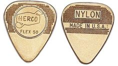 Jim Dunlop Herco Flex 12 Nylon Medium Guitar Picks - Gold Medium Gauge Extremely durable and long lasting Made from high quality nylon Unique pattern on the picks insures a slip-proof grip Cool Guitar Picks, Cool Picks, Musical Instruments, Accessories, Medium, Guitars, Bass, Gold