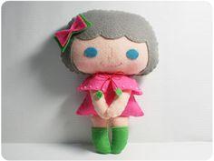 Ceci girl - doll pattern, felt doll, PDF