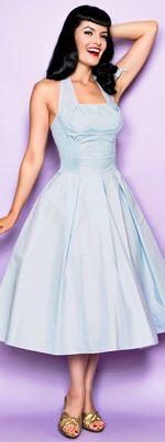 vintage style light blue dress