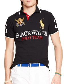 Polo Ralph Lauren Black Watch Custom-Fit Polo Shirt - Slim Fit